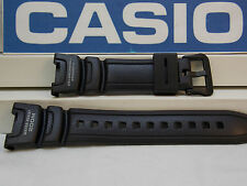 Casio Watch Band SGW-100 Black Rubber Strap for Compass Thermometer Watch