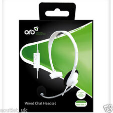 Official ORB Wired Chat Headset for Microsoft XBox ONE S X1 White BRAND NEW