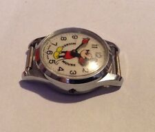 Vintage Mickey Mouse Wrist Watch Bradley Swiss Made   PARTS OR REPAIR