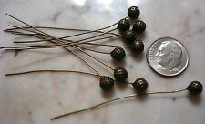 Bronze plated 5mm ball Jewelry head pins 10 pcs 2 inch 50mm long fhg007