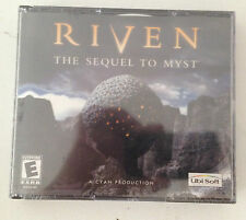 NEW!!  Riven: The Sequel to Myst (PC or Mac, 1997) Factory Sealed BIG BOX Game