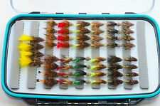 104 Elite Mini Muddler boxed flies , wet hopper, lure, brown trout fly fishing
