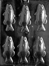 BASS FISH BAR  PIECES Chocolate Candy Soap molds gone fishing dad fathers day
