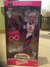 New Box Mattel Olympic Gymnast 1995 Barbie USA Sports NIB Rare 90's Gymnastics