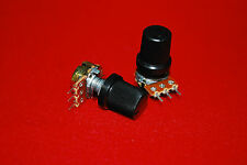2pcs B100K WH148 15mm Shaft Mixer Variable Resistors  Potentiometer A384