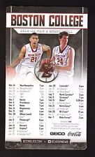 2014-15 Boston College Eagles Basketball Magnet Schedule