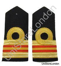 Epaulette Curved Naval 2 Red Bars Lt Commander R393