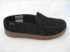 Globe Castro black textile leather slip ons mens loafers shoes sz 10D 44
