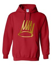 BORN SINNER J.COLE GOLD Hooded Sweatshirt HIP HOP REP HOODIE ovoxo xo