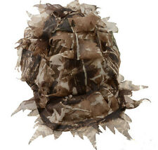 3D Fast Dry Realtree Desert Airsoft Jungle Leaf Net Ghillie Hat Cap