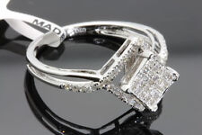 .31 CARAT WOMENS 100% GENUINE DIAMOND WHITE GOLD FINISH ENGAGEMENT WEDDING RING