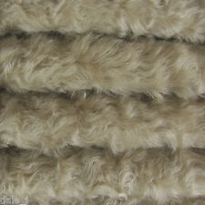 "1/6 yard INTERCAL Stone 3/4"" Medium Density Curly Mohair Teddy Bear Fabric"