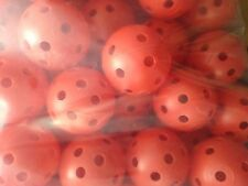 100 Pcs RED Airflow Hollow Perforated Plastic JL Golf Practice Training Balls