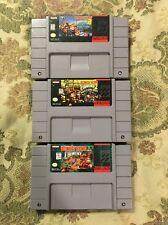 Donkey Kong Country Trilogy 1 2 3 SNES Super Nintendo Lot !! Tested Works Great