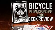 BICYCLE REVERSED BACK PLAYING CARDS - BLACK DECK 2ND GENERATION - MAGIC TRICKS