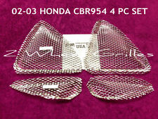 2002 HONDA CBR954RR 4 PC CUSTOM CHROME POLISHED ALUMINUM FAIRING GRILLS SCREENS