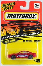 Matchbox MB 49 BMW B M W 850i Red No Skull Tampo New On Card 1995