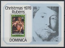 Dominica 1978 ** Bl.51 Gemälde Paintings Rubens Weihnachten Christmas [sq6584]