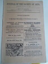 RARE Journal of the Society of Arts 11th June 1897 With Vintage Advertising