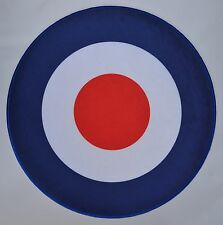 Extra Large RAF Roundel Mod Target Iron On/Sew On Patch