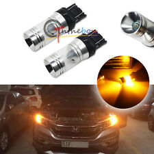 2 Hi-Power Amber Yellow 20W CREE 7443 7440 LED Bulbs For Turn Signal, Backup DRL