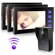 "2.4G Wireless 7""TFT Video Doorbell Intercom Video Door Phone Camera TouchKey1V3"