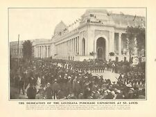 Dedication Of The Louisiana Purchase Exposition At St. Louis, 1903 World's Fair,