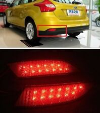 Rear Bumper Red LED lens Reflector tail Light Lamp For Ford Focus 2012 2013 2014