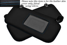BLUE STITCH FITS HYUNDAI GETZ 02-08 2X SUN VISORS LEATHER COVERS ONLY