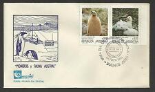 ARGENTINA 1986 ANTARCTIC PIONEERS & FAUNA PENGUIN FDC (No 2)