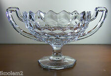 BEAUTIFUL FOSTORIA AMERICAN TW0 HANDLED FOOTED SERVING BOWL - TROPHY SHAPE