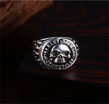 New sale Men's 316L Stainless Steel Vogue Design Mini Skull Ring Size US 9  !!