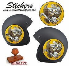 1 ADESIVO STICKERS STAMPA DIGITALE LIVE TO RIDE HARLEY DAVIDSON STILE VINTAGE