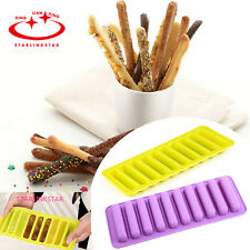 10-Cavity Rectangle Silicone Molds Heat-Resistant Cookie chocolate Pastry Mould
