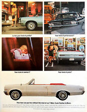 Vintage 1964 Pontiac Le Mans convertible car advertisement print ad art