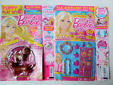 Barbie Magazine #329 & 327 Puppy Necklace & Bracelets Play Set Free Gifts NEW