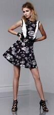 Prabal Gurung Target Floral Dress Black White fit and flare sleeveless SZ 14 NEW