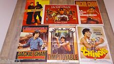 jackie chan  lot collection 8 affiches rare  cinema karate kung-fu