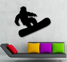 Wall Stickers Vinyl Decal Extreme Sport Winter Snowboarding ig984