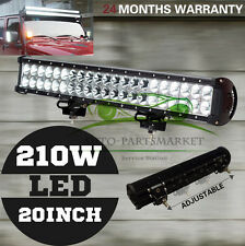 20inch 210W Cree LED Light Bar Spot Flood Combo Offroad Work SUV 4WD Lamp