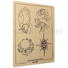 Fashion Cool Rose Flower Sun Design Tattoo Practice Skin Tool Silicone Rubber