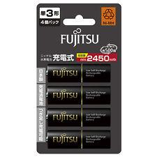 4 AA High Capacity Rechargeable Batteries Fujitsu 2450mAh AA Eneloop Batteries