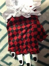 Harley Quinn Cospla Mardi Gras Costume Checkered Jester Queen Of Hearts Gloves