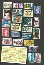 GB Great Britain & Ireland collection of approx. 100 used stamps & stamp labels