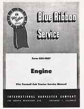 FARMALL CUB Tractor ENGINE Service manual