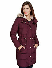 Maroon Per Una duck down ladies storm breaker coat size 10