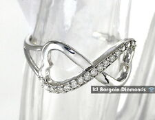diamond infinity heart .17 carat 10K white gold ring life journey love promise