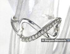 diamond infinity heart .17 carat 10K white gold ring life journey love promise