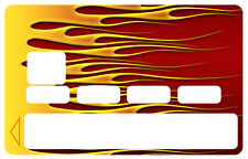 STICKER HOT ROD FLAMMES HD CARTE BANCAIRE CREDIT CARD CB SKIN AUTOCOLLANT CC097