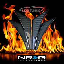 NRG Carbon Fiber CF Canards 4-Piece Kit Front / Rear Bumper (Universal Fit) C100